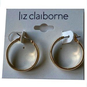Liz Claiborne Small Gold Hoops